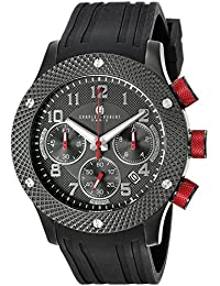 Charles-Hubert, Paris Men's 3979-C Premium Collection Analog Display Japanese Quartz Black Watch