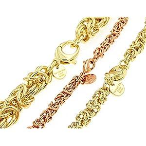 Collana Bizantina rotonda oro doublé 5 mm 85 cm uomo donna gioielli regalo girocollo catenina catena collanina dalla fabbrica tendenze