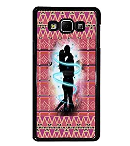 PrintDhaba Love D-6007 Back Case Cover for SAMSUNG GALAXY A7 (Multi-Coloured)