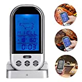 KingProst-Küche Kabellos LCD Digitales Grill-Thermometer Bratenthermometer Fleischthermometer mit Timer FüR KüChe, Grill, Instant Read-Out Temperaturbereich bis 250°C