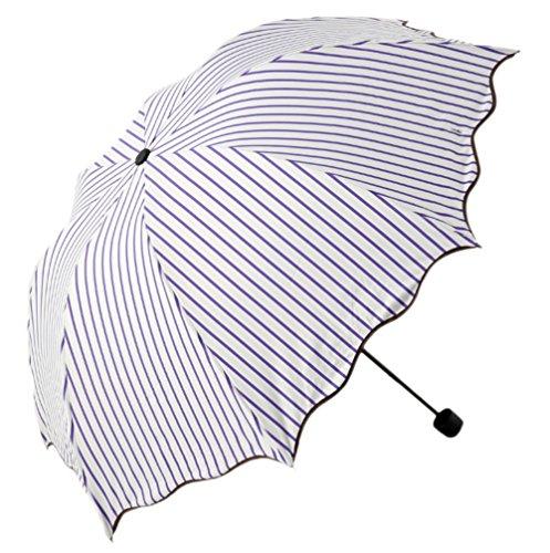 Honeystore Regenschirm, 2-Falten Taschenschirm UV Sonnnenschirm Violett