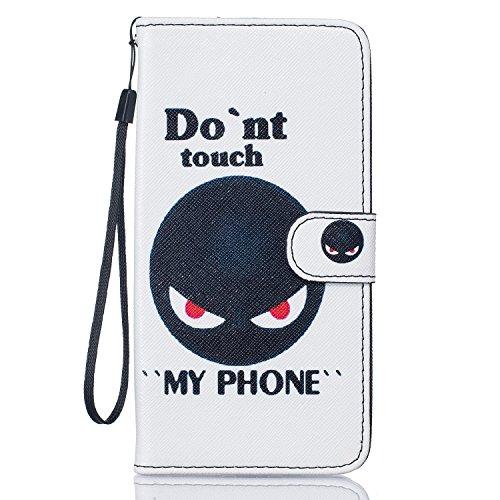Voguecase® für Apple iPhone 5C hülle,(Blue Sand 01) Kunstleder Tasche PU Schutzhülle Tasche Leder Brieftasche Hülle Case Cover + Gratis Universal Eingabestift Rot Auge/my phone