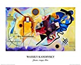 1art1® Posters: Vassily Kandinsky Poster Reproduction - Jaune, Rouge, Bleu (50 x 40 cm)