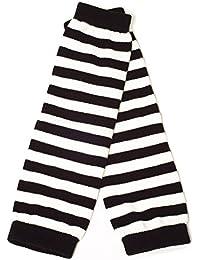 Damen Frau Mädchen Thick Stripe Lang Finger Wärmer/Handschuhe