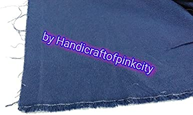 """HANDICRAFTOFPINKCITY Cotton Duck Canvas Cloth, 10oz., blue Color, 60"""" Width, Sold by the one meter"""