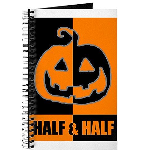 CafePress - Halloween-Kürbis-Notizbuch, Spiralbindung, persönliches Tagebuch, Punktraster