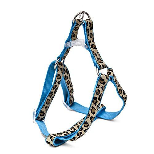 Pawz Road exklusives Set für Hunde im Leoparden Look – Leine, Halsband und Geschirr Blau S - 3