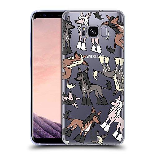 Head Case Designs Chinese Crested Hunde Rassen Modelle 6 Soft Gel Huelle kompatibel mit Samsung Galaxy S8 -