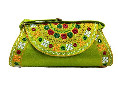 Trend , Damen Clutch Parrot Green