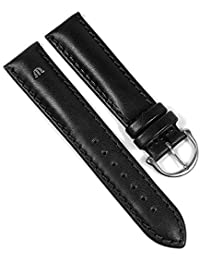 Maurice Lacroix Galant Marken Uhrenarmband Kalbsleder matt schwarz 20mm 22492S