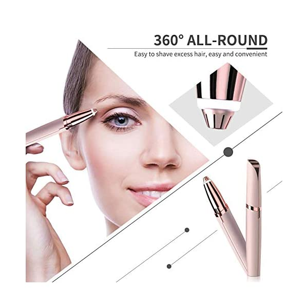 Womens Electric Hair Remover Shaver Painless Brows Facial Fine Hair Removal Trimmer For Lady