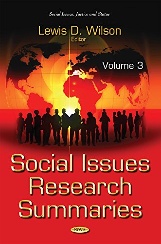 Social Issues Research Summaries (with Biographical Sketches): Volume 3 (Social Issues Justice Status S)