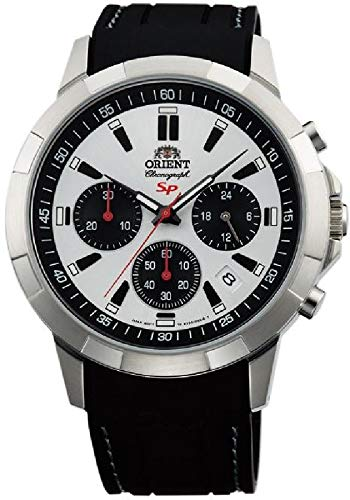 Orient Orologio Cronografo Quarzo Uomo con Cinturino in Gomma FKV00008W0