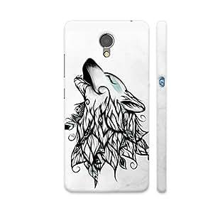 Colorpur The Wolf Artwork On Lenovo P2 Cover (Designer Mobile Back Case)   Artist: LouJah
