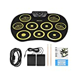 Jackeylove Electronic Drum Kit Practice Pads Roll-Up Drum Electronic mit Rekorder-Funktion mit Trommelsticks Übungsinstrument für Anfänger Geburtstagsgeschenk