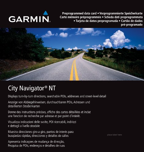 Garmin City Navigator NT Europa, Datenkarte microSD/SD Kartenmaterial für 45 Länder Europas (Garmin Sd-karte)