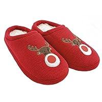 Ladies Christmas Mule Slippers Red UK 7-8 EU 40-42