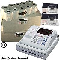 eposbits® marca 40rollos + 2x de tinta para Casio 130CR 130CR caja registradora