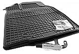 4.tlg Gummimatten Dacia Sandero I + II Original Qualität Gummi Fußmatten schwarz (auch Stepway)