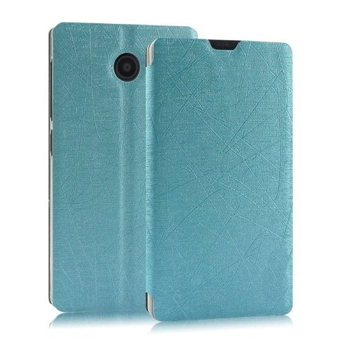 Heartly Premium Luxury PU Leather Flip Stand Back Case Cover For Nokia X X+ Dual Sim Plus Android A110 - Blue  available at amazon for Rs.449