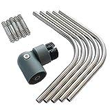 Eckverbindungs-Set/Gelenkverbinder für Aluminium-Geländer in Anthrazit mit Edelstahl-Geländerstäben