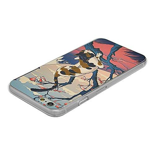 iPhone 5S Silikon Hülle,iPhone SE Hülle,Sunroyal TPU Case Schutzhülle Silikon Crystal Kirstall Gel Case,Blau Wal Relief Malerei Muster Weichem Silikon Schutzhülle Handy Gürtel Tasche Schutzhülle Hülle Pattern 16