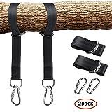 Leegoal Tree Swing strap, Tree Swing Hanging kit contiene fino a 725,7kilogram, 2strap e moschettone a scatto, perfetto per altalene, installazione facile e veloce da appendere a qualsiasi Swing (1,5m)