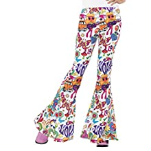 Smiffys Groovy Flared Trousers, Ladies