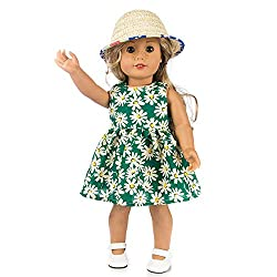 Minshao Clothes Dress Girl Toy For 18 Inch American Girl Doll Accessory (Green)