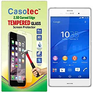 Casotec 2.5D Curved Edge Tempered Glass Screen Protector for Sony Xperia Z3