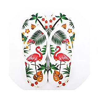 Shoes Women Beach Flip Flops Flamingos Floral Summer Fashion Slippers Ladies Comfy House Shoes,6.5