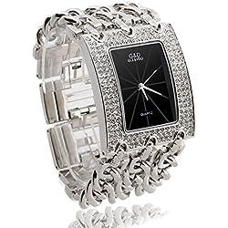 Facilla Ladies Watch Quartz Watch With Silver Colour Diamanté