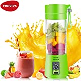 FINIVIVA 2000mah Battery Portable and Rechargeable Battery juice Blender With usb charging Cable | USB Rechargeable juicer Bottle Blender Cup For Multi- use (380ml,Multicolour)
