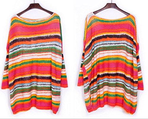 Smile YKK Damen Herbst Frühling Sweatershirt Langshirt Langarmshirt Hemd Bluse Pullover Pulli Long Sleeve Einheitgröße Weiß