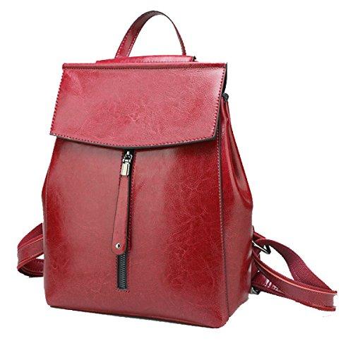 Yy.f Handtaschen Multifunktionale Taschen Ledertaschen Schultertaschen Damen-Taschen Mode Ledertaschen Bunte Taschen Volltonfarbe Tasche Red