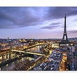murando Papier peint intissé Paris 350x256 cm Décoration Murale XXL Poster Tableaux Muraux Tapisserie Photo Trompe l'oeil Ville City Eiffel Tower d-B-0207-a-b
