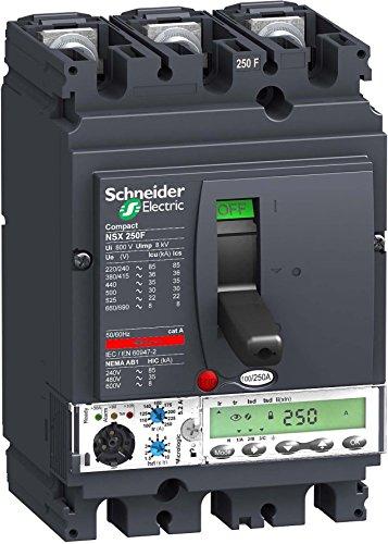 Schneider LV431880 3p3D Micrologic 5,2A 250A NSX250N kompakter Leistungsschalter - Pole Leistungsschalter