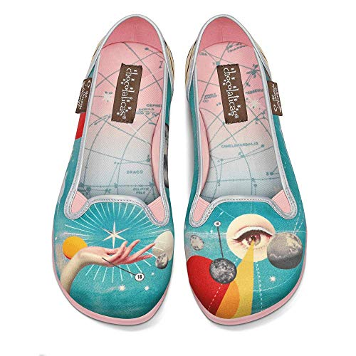 Hot Chocolate Design Chocolaticas Astrology Bailarina Slip-On para Mujeres Multicolor Talla HCD 37