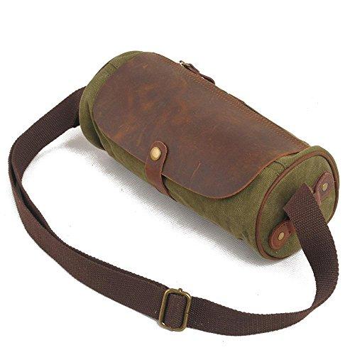 Europa e negli Stati Uniti gli uomini e donne per il tempo libero pacchetto retro borsa a tracolla obliquo croce pacchetto, Green Green