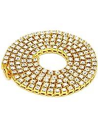 Fairy Whisper Hip Hop - Collar con cadena de tenis de cristales brillantes