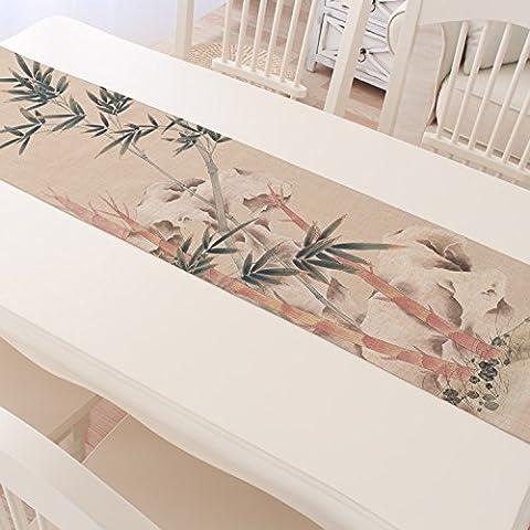 Table Runnerthe Ancient Tea Table Runner Meilanzhuju Shea Linen Tablecloths Tea Tea Wind Flag Table Runner - Original Antique Bamboo 30*160Cm
