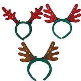 Diadema Cuernos Reno Cuernos Ciervo Disfraz Decoracion Navidad Conjunto de 3