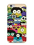 For Apple iPhone 6, iPhone 6S Doodle Monsters Doodle Handdrawn Cute Funny Multicolour - Designer Printed High Quality Smooth Matte Protective Mobile Case Back Pouch Cover by Creative Cases