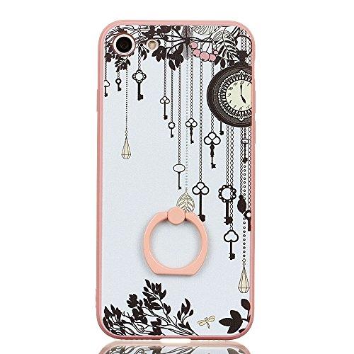 Voguecase Für Apple iPhone 7 4.7 hülle, Schutzhülle / Case / Cover / Hülle / TPU Gel Skin mit Ring Schnalle (Blau-Seelöwen) + Gratis Universal Eingabestift Pink-Schlüsselanhänger