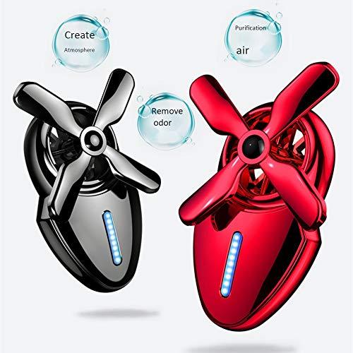 WEIYIQ Auto Aromaterapia Diffusore di Olio Deodorante per Auto Diffusore di Profumo Mini Ventilatore Decorazione Profumo Uscita Auto Aromaterapia Lega di Olio Essenziale 1 Confezione,Red