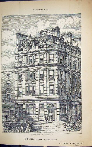old-original-antique-victorian-print-alliance-bank-regent-street-londn-building-1884-architecture-fr
