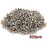 500X Apliques Remaches Metal 4mm Tachuelas Bolsa/Calzado/Guante