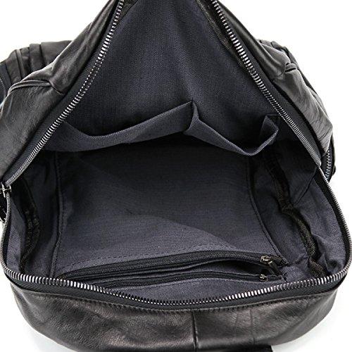 La Signora Sacchetto Di Spalla Casuale Zainetto Vento Collegio Black