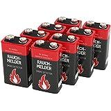 ANSMANN Batterie speziell für Rauchmelder Feuermelder Brandmelder CO-Melder Longlife Alkaline 9V E-Block (8er Pack) 6LR61 6AM6 MN1604 Rauchmelderbatterie 7 Jahre lagerfähig