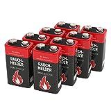 8 ANSMANN Alkaline Rauchmelder Batterien 9V/7 Jahre lagerfähige Brandmelder Batterie/E-Block Premium Qualität für höhere Leistung, Ideal für Feuermelder, Alarmanlagen & Kohlenmonoxid Warnmelder